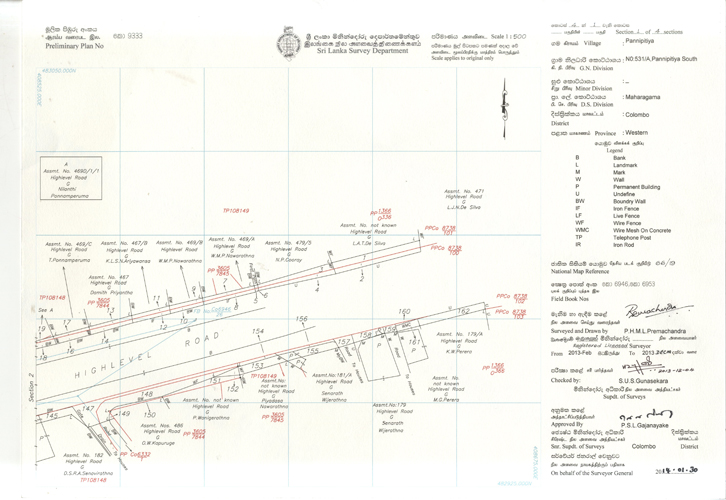 Survey Plans Diagrams